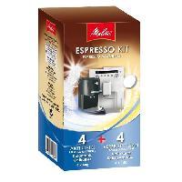 Accessoires Et Pieces - Petit Dejeuner Kit nettoyage machine a expresso 4 sachets et 4 pastilles