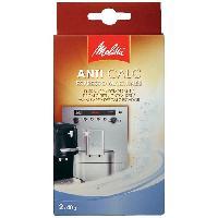 Accessoires Et Pieces - Petit Dejeuner MELITTA Lot de 2 sachets de poudre de detartrage ANTI CALC pour machines a cafe automatique