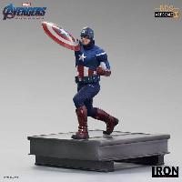 Accessoires Jeux Video - Accessoires Console Figurine - FINE COLLECTIBLES - Marvel : Captain America - 21 cm