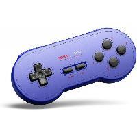 Accessoires Jeux Video - Accessoires Console Manette Gamepad bluetooth bleue 8Bitdo SN30 GP pour Switch - Just For Games