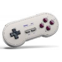 Accessoires Jeux Video - Accessoires Console Manette Gamepad bluetooth creme 8Bitdo SN30 G Classic pour Switch - Just For Games