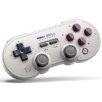 Accessoires Jeux Video - Accessoires Console Manette Gamepad bluetooth creme 8Bitdo SN30 Pro G pour Switch - Just For Games