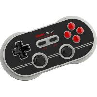 Accessoires Jeux Video - Accessoires Console Manette Gamepad bluetooth gris/noir 8Bitdo N30 Pro2 pour Switch - Just For Games