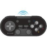 Accessoires Jeux Video - Accessoires Console Manette Sans Fil - RetroBit Legacy 16 - Noire - Switch. PC. Steam. Raspberry Pi. SNES. Android