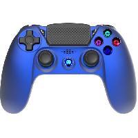 Accessoires Jeux Video - Accessoires Console Manette Sans Fil BLUE Metal avec Prise Jack pour casque et boutons lumineux pour PS4