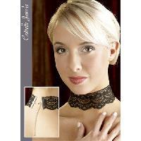Accessoires Lingerie Collier noir en dentelle - Cottelli