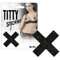 Accessoires Lingerie Sticker compatible avec seins Titty X