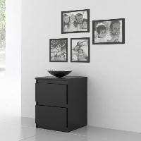 Accessoires Literie FINLANDEK Chevet NATTI contemporain noir mat - L 42 cm