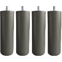 Accessoires Literie Jeu de pieds cylindriques D 6.2 H 17 cm Taupe - Lot de 4