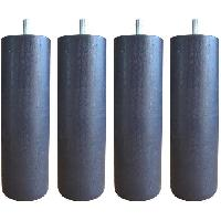 Accessoires Literie Jeu de pieds cylindriques D 6.2 cm H 24.5 cm Gris anthracite - Lot de 4