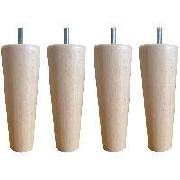 Accessoires Literie Jeu de pieds fuseau ronds droit en bois Ø 5.4 cm - H 14.5 cm - Lot de 4