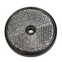 Accessoires Remorque 2 Reflecteur ronde 70mm blanc - ADNAuto