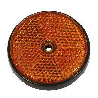 Accessoires Remorque 2 Reflecteur ronde 70mm orange - ADNAuto