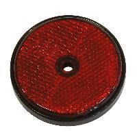 Accessoires Remorque 2 Reflecteur ronde 70mm rouge - ADNAuto