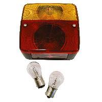 Accessoires Remorque Feu arriere 4 fonctions avec ampoules 12V 11x10x5cm