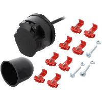 Accessoires Remorque Kit prise remorque femelle - 7PIN - 12VDC - Cable 1.5m - Nickele - ADNAuto