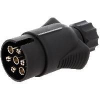 Accessoires Remorque Prise remorque male - 7PIN - 12VDC - compatible avec fil 7mm - nickel