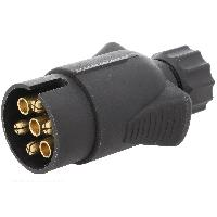Accessoires Remorque Prise remorque male - 7PIN - 12VDC - pour fil 10mm - ADNAuto