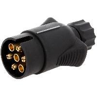 Accessoires Remorque Prise remorque male - 7PIN - 12VDC - pour fil 7mm - ADNAuto