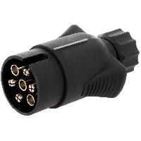 Accessoires Remorque Prise remorque male 7PIN 12VDC pour cable 7mm - nickele