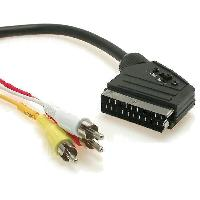 Accessoires Tv - Video - Son Cable RCAx3 Prise Peritel -SCART- 2m ADNAuto