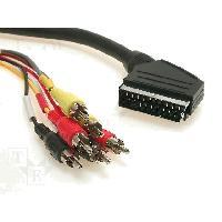 Accessoires Tv - Video - Son Cable RCAx6 Prise Peritel -SCART- 1.5m - ADNAuto