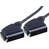 Accessoires Tv - Video - Son Cable noir peritel -SCART- 2m