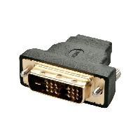 Adaptateur Audio - Video LINDY Adaptateur DVI-D male - HDMI A femelle