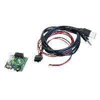 Adaptateur Aux Autoradio Adaptateur de prise USB AUX AD1140C compatible avec Hyundai Santa Fe 2