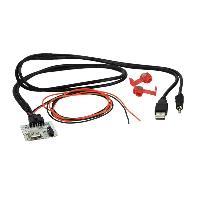 Adaptateur Aux Autoradio Adaptateur de prise USB AUX AD1140F compatible avec Hyundai i20