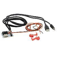 Adaptateur Aux Autoradio Adaptateur de prise USB AUX AD1140G compatible avec Hyundai Tucson 3