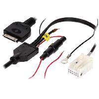 Adaptateur Aux Autoradio Cable Adaptateur AUX iPod compatible avec Audi ap05