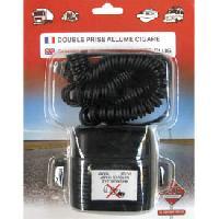 Adaptateur Electrique De Voyage Double prise allume-cigare 12V sur socle