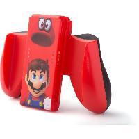 Adaptateur Manette Nitendo Switch Poignee ergonomique - Mario Odyssey - Rouge
