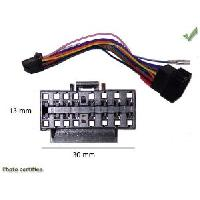 Adaptateur connectivite Autoradio Cable Specifique Autoradio ISO SONY 16pins 30x13mm CDX MDX XRC