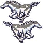 Adhesif 2 chevaux Mustang - 10.5x7.5cm - ADNAuto