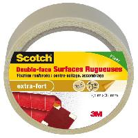 Adhesif 3M SCOTCH Double-face - 7.5 m x 32 mm - Surface rugueuse