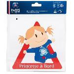 Adhesif Bebe a bord - PSG Princesse a bord