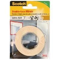 Adhesif SCOTCH Double-face - 1.5 m x 19 mm - Miroir