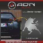 Adhesif Sticker Argent - Taureau Corrida - H84mm x L90mm - ADNAuto