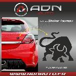 Adhesif Sticker Noir - Taureau Stylise - H80mm x L90mm - ADNAuto