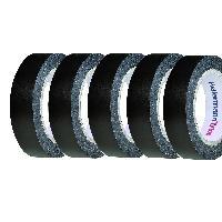 Adhesifs 5 rouleaux Adhesif PVC 15mm x 10m - Noir ADNAuto