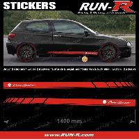 Adhesifs Alfa Romeo 2 stickers compatible avec ALFA ROMEO 140 cm - ROUGE lettres BLANCHES