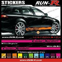 Adhesifs Alfa Romeo 2 stickers compatible avec Alfa Romeo CUORE SPORTIVO 225 cm - Divers coloris
