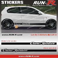 Adhesifs Alfa Romeo 2 stickers compatible avec Alfa Romeo CUORE SPORTIVO 225 cm - NOIR