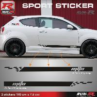 Adhesifs Alfa Romeo 2 stickers pour ALFA ROMEO MITO - 140 cm - NOIR Run-R Stickers