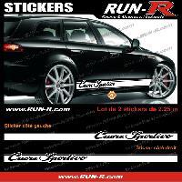 Adhesifs Alfa Romeo 2 stickers pour Alfa Romeo CUORE SPORTIVO 225 cm - BLANC Run-R Stickers