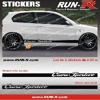 Adhesifs Alfa Romeo 2 stickers pour Alfa Romeo CUORE SPORTIVO 225 cm - NOIR Run-R Stickers