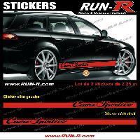 Adhesifs Alfa Romeo 2 stickers pour Alfa Romeo CUORE SPORTIVO 225 cm - ROUGE Run-R Stickers