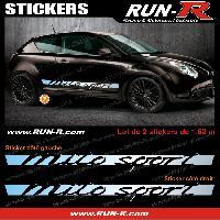 Adhesifs Alfa Romeo 2 stickers pour Alfa Romeo Mito Sport 162 cm - CHROME Run-R Stickers
